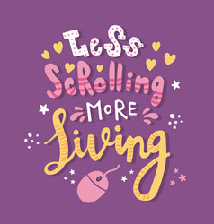 scrolling lettering vector image