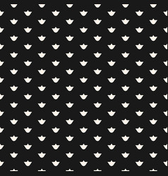 seamless floral pattern with tiny lilies black vector image