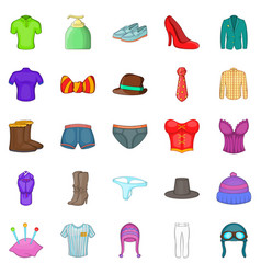 Shorts icons set cartoon style vector