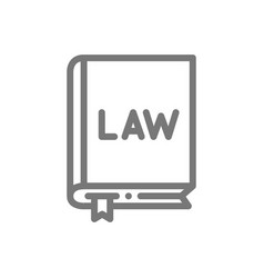 simple organic law constitution line icon symbol vector image