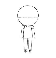Sketch draw little boy vector