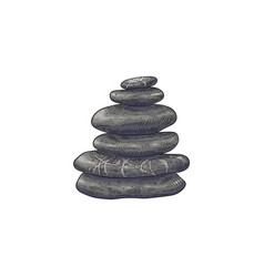 spa stones in stack in sketch vector image