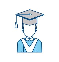 student graduation hat vector image