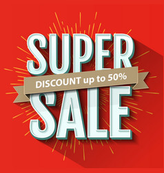 Super Sale inscription banner design template vector image