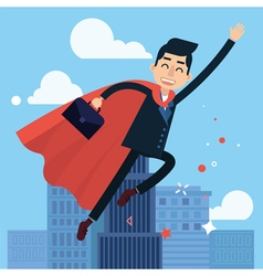 Superhero Businessman Flying to Work vector