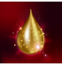 Supreme collagen oil drop essence Premium shining vector