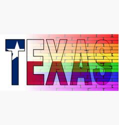 Texas lgbt wall vector