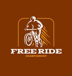 vintage and modern biking logo badges vector image
