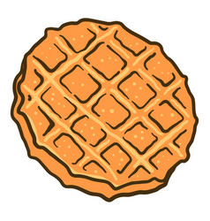 Waffle cookie icon hand drawn style vector
