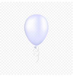 white balloon on a transparent background vector image