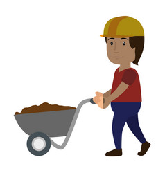 worker man cartoon vector image