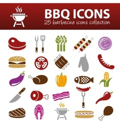 barbecue icons vector image vector image