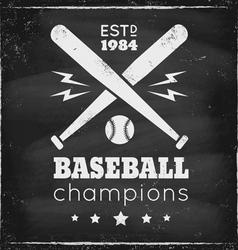 baseball chalk vector image vector image