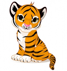 cute tiger cub vector image