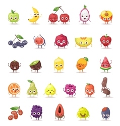 Fruit characters vector image