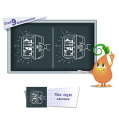 game find 9 differences food vector image vector image