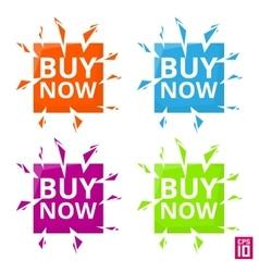 Label Buy now vector image