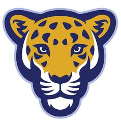 Leopard head mascot vector