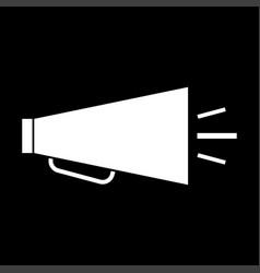 retro loudspeaker white color icon vector image