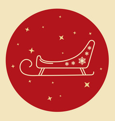 santa s sleigh icon in thin line style vector image vector image
