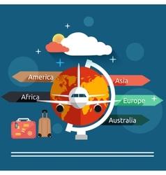 Aviator concept in flat design vector image vector image