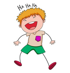 Boy laughing vector image vector image