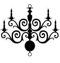 chandelier silhouette vector image vector image