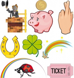 good luck icons vector image vector image