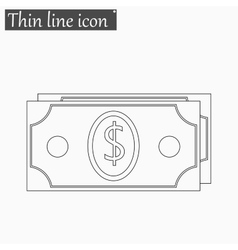 Money icon Style thin line vector image vector image