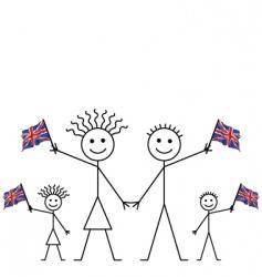 uk flag waving vector image vector image