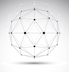 3D polygonal geometric wireframe object abstract vector image