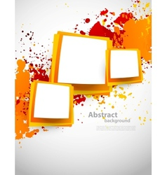 Abstract grunge background with squares vector image vector image