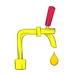 Beer tap icon cartoon style vector