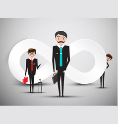 businessmen with infinity symbol vector image