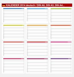 Calendar 2014 German Type 5B vector image