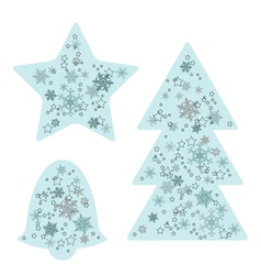 Christmas background elements vector image