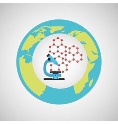 eco science research microscope icon vector image vector image