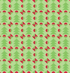 Retro Christmas pattern Winter wallpaper vector image
