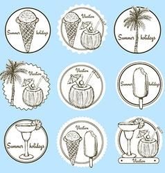 Sketch vacation logos vector image vector image