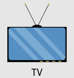 Tv icon flat design vector image vector image
