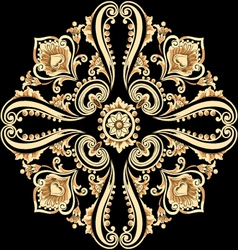 Vintage floral motif with swirling elements vector image vector image