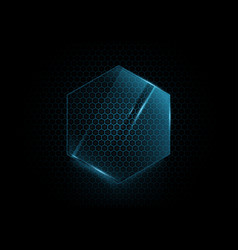 abstract blue hexagons background technology vector image