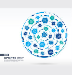 Abstract sport and fitness background digital vector