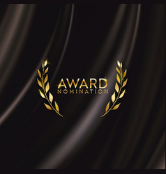award gold winner movie nomination design vector image