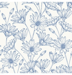 Beautiful vintage seamless pattern vector image vector image