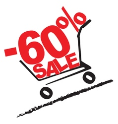 Big sale 60 percentage discount 2 vector image