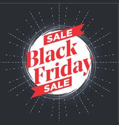 Black friday sale galaxy banner vector