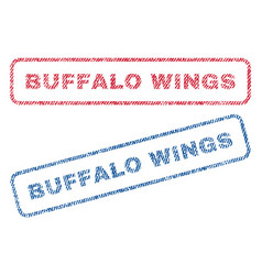 Buffalo wings textile stamps vector