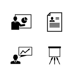 Business presentation simple related icons vector