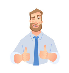 businessman show thumb up vector image